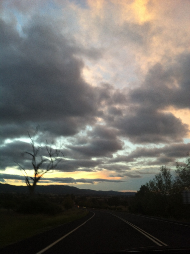 2 Sunset en route to Mudgee